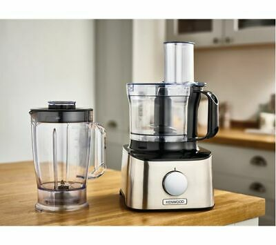 KENWOOD MultiPro Compact FDM300SS Food Processor - Black & Silver • 79.99£