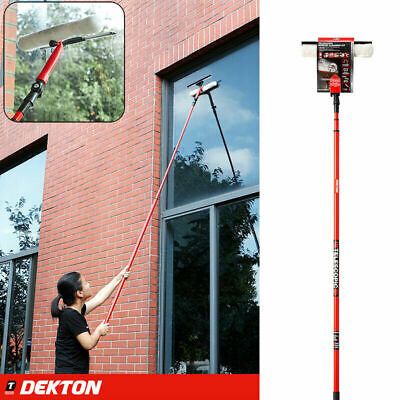 3.5m Telescopic Conservatory Window Glass Cleaner Cleaning Kit Wash Squeegee • 12.99£