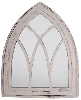 £56.99 • Buy Gothic Arched Rustic Wooden Outdoor Garden Mirror White Wash Window Shabby Chic