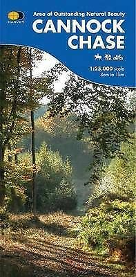 £8.99 • Buy Cannock Chase HARVEY Waterproof Map Walkers Riders Cyclists 1:25,000 4cm To 1km