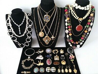$ CDN37.42 • Buy Huge Vintage To Now Jewelry Lot Estate Find  All Wearable Pieces - SOME SIGNED