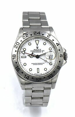 $ CDN6579 • Buy Vintage Gents Rolex Explorer Ii 16750 Date Wristwatch Polar White Dial Stainless