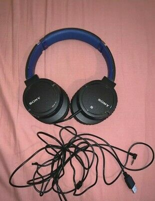 Sony Wired MDR-ZX770BN Noise Cancelling Headphones With Bluetooth BLUE • 44.99£