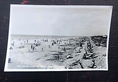 The Beach Looking West , East Witterings Sussex Post Card  • 4.20£