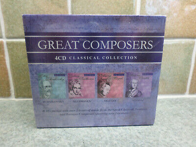 Great Composers 4CD Set Brand New Factory Sealed • 4.95£