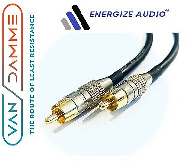 £22.99 • Buy Van Damme Sub Woofer Gold RCA To RCA Audio Cable Phono Phono Lead Multi Colours