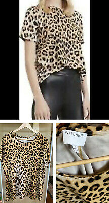 AU15 • Buy Size XL/16 ~ WITCHERY ~ Leopard Luxe Top