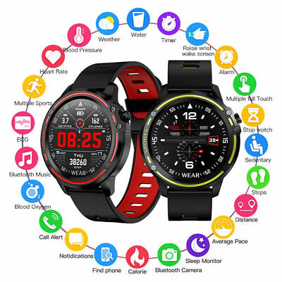 AU46.83 • Buy L8 Smart Sports Watch ECG PPG Blood Pressure Heart Rate IP68 Bluetooth Watch