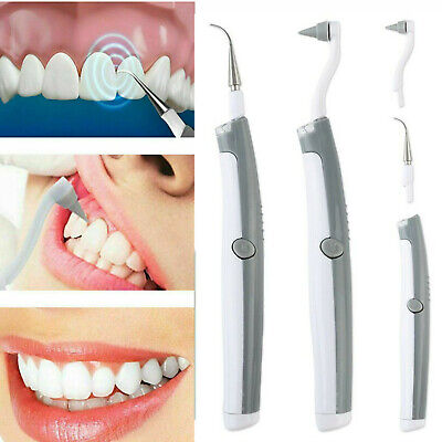 Electric Sonic Dental Tooth Stain Polisher Teeth Whitener Plaque Eraser Remover • 4.78£