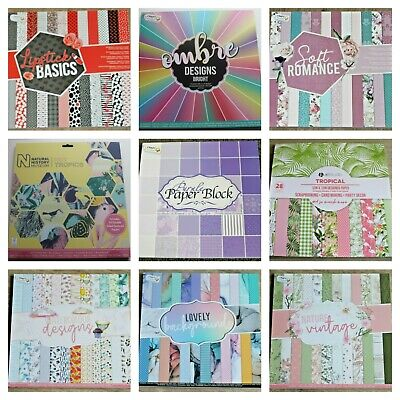 £8.50 • Buy Excellent Scrapbook Card Paper Pads 12 X 12  20/24 Sheets 160/240 Gsm 42 Choices