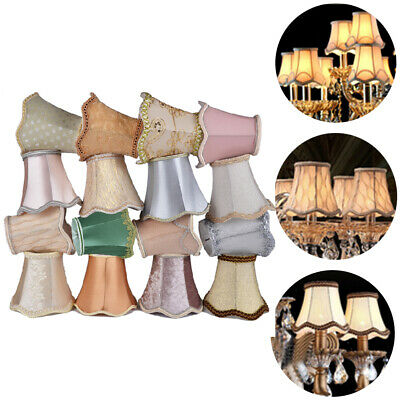 Lace Lamp Shades Textured Fabric Ceiling Chandelier For E14/E27 Pointed Bulb • 28.10£