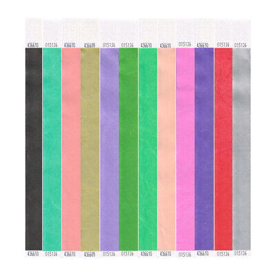 £3.99 • Buy 100 Tyvek Wristbands 25mm Perfect For Events, Parties, Festivals & Clubs