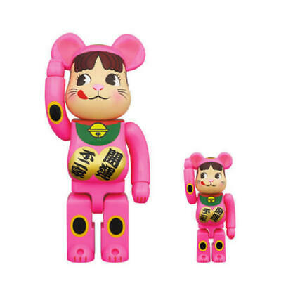 $398 • Buy Medicom Toy BE@RBRICK Bearbrick  Manekineko Lucky Cat Peko-chan Pink 400% 100%