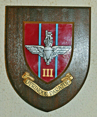 3rd Battalion Parachute Regiment Regimental Mess Wall Plaque Shield • 25£