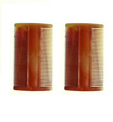 Nit Comb Double Sided Head Lice  Detection Nits Removal Plastic Comb All Age X2 • 0.99£