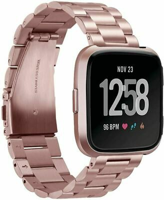 $ CDN37 • Buy Fitbit Versa Versa 2 Lite Durable Stainless Steel Replacement Strap Rose Gold