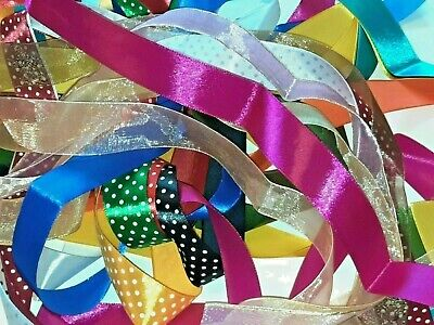£3.15 • Buy 10 Meters Of Satin And Organza Mixed Ribbon Bundle Value Pack Assorted Colours