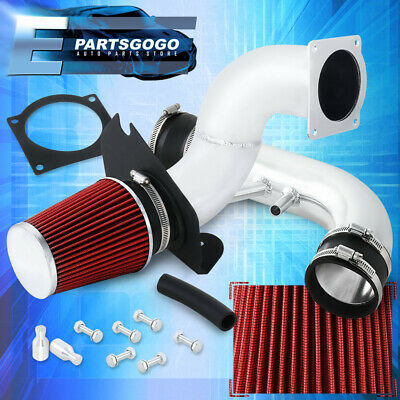 $56.99 • Buy For 96-04 Ford Mustang Gt 4.6L V8 Chrome Cold Air Intake System Kit + Red Filter