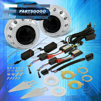 $ CDN106.33 • Buy For Toyota 2.5  Round Red White Retrofit Angel Halo Projector Headlights