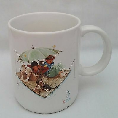 $ CDN13.30 • Buy Collectible 1987 Museum Collections Norman Rockwell  Fisherman's Paradise  Mug