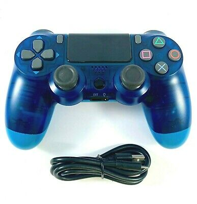 AU41.95 • Buy PS4 Controller Wireless DualShock 4 V2 CLEAR BLUE - For Playstation 4 *NEW*