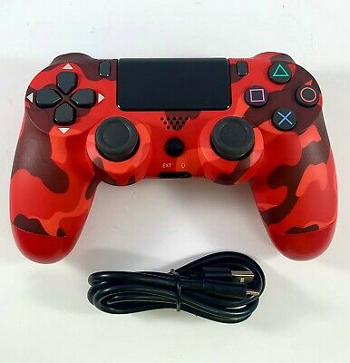 AU41.95 • Buy PS4 Controller Wireless DualShock4 V2 RED CAMOUFLAGE - For Playstation 4 *NEW*