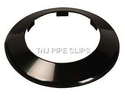 Toilet Soil Pipe Cover - Collar - 110mm Black • 3.75£