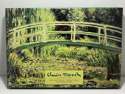 The Claude Monet Collection Any Year Diary, Address Book, Notebook & Pen New • 2.99£