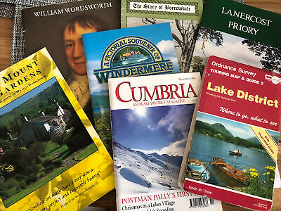 6 Guide Books And 1 Map Relating To Cumbria -Lake District • 7£