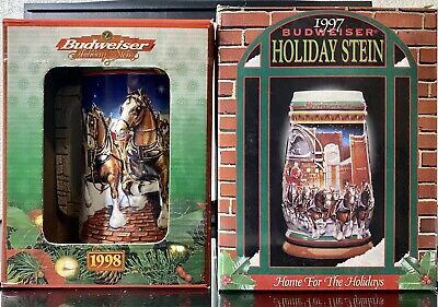 $ CDN19.98 • Buy Budweiser Holiday Stein Giftware Edition Lot Of 2 1997 & 1998 Both NIB
