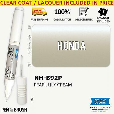 $ CDN18.21 • Buy NH B92P Touch Up Paint For Honda Silver # PEARL LILY CREAM Pen Stick Scratch Chi