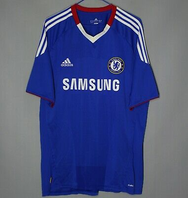 Chelsea London 2010/2011 Home Football Shirt Jersey Adidas Size L Adult • 25.99£