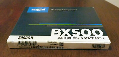 View Details Crucial BX500 2TB Internal 2.5in (CT2000BX500SSD1) Solid State Drive • 140.00£