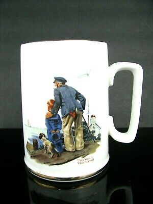 $ CDN12.67 • Buy  Vintage Mug NORMAN ROCKWELL Looking Out To Sea 1985 Museum Coffee Cup