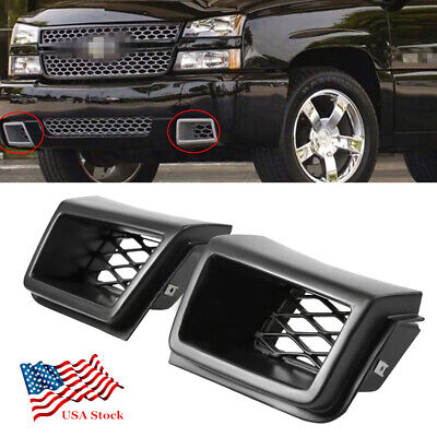 $40.87 • Buy 2PCS Front Bumper Air Vent Duct Grille Insert For Chevy Silverado 1500 2003-2007