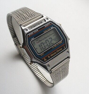 £41.60 • Buy Timetron ST950 Chronograph Melody Alarm Vintage Digital Watch Early 1980s