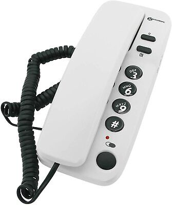 £12 • Buy Corded Office Telephone Wall Mounted Desk Landline Home Big Buttons White Phone