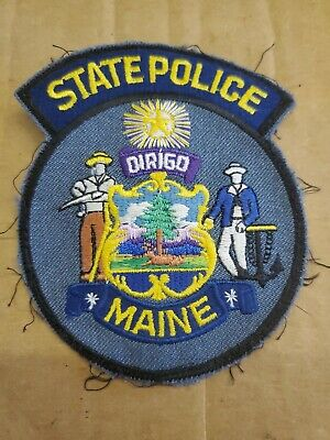 $8 • Buy Vintage Maine State Police Patch Obsolete (jw)