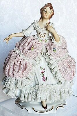 $ CDN78.53 • Buy Antique Dresden Lace Victorian Lady Porcelain Figurine Germany Hand Painted 7