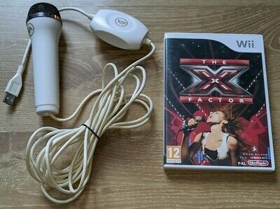X Factor With Usb Wired Mic For Nintendo Wii Usb Microphone • 13.49£