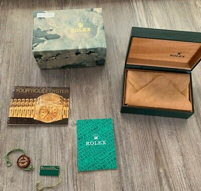 $ CDN155.10 • Buy GENUINE Rolex Oyster 68.00.08 Watch Box With Booklet/tags WITH PILLOW