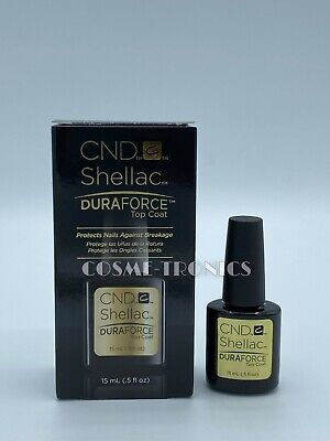 AU23.19 • Buy CND Shellac UV/LED Gel Polish DuraForce Top Coat 0.5 Oz / 15 ML - BOXED