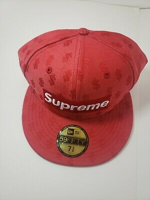 $ CDN177.76 • Buy Supreme Box Logo Bogo New Era Fitted Hat Size 7 3/8, Red Monogram SS18H54