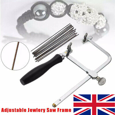 Adjustable Jewellers Piercing Saw Frame Jewellery Making Tool With Saw Blades UK • 12.55£