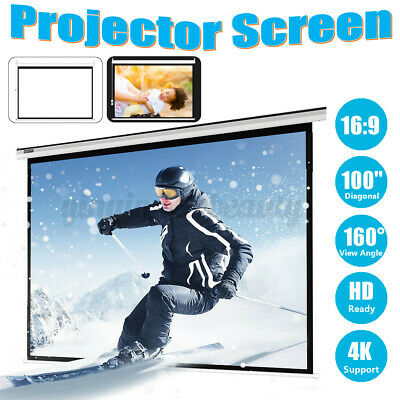 AU116.99 • Buy 100'' 16:9 Electric Motorised Projector Screen HD TV Projection Home Theatre