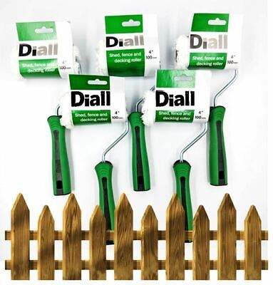 £6.79 • Buy 5pk Decking Paint Roller Garden Shed Fence Wood Stain Applicator Varnish Sleeve
