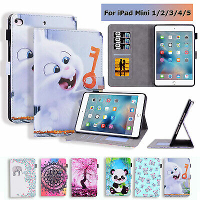 Tablet Case For 7.9'' IPad Mini 1 2 3 4 5 Painted PU Leather Stand Wallet Cover • 11.03£