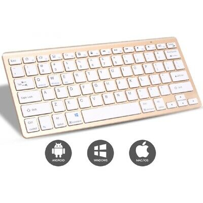 Gold Wireless MINI Mouse And Keyboard Boxed Set For IMac Windows Sj • 17.68£