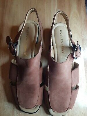Hush Puppies Wedge Heal Comfort Curve Sandals Size 6 • 10£
