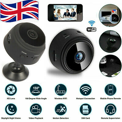 £19.99 • Buy Mini WiFi Wireless Magnetic IP Camera HD1080P With Night Vision Home Security UK